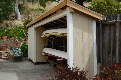 Sheds plans online guide learn shed storage ideas pinterest for Canoe storage shed